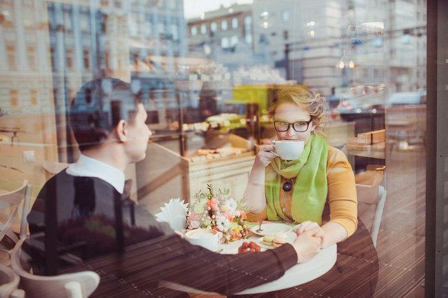свидание кафе встреча пара