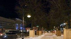 На Комсомольском проспекте в Перми появились новые светильники