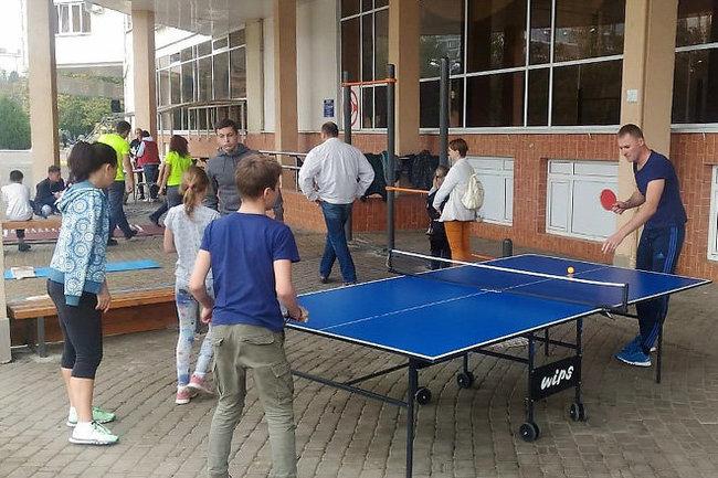 Семья на спорте Краснодар