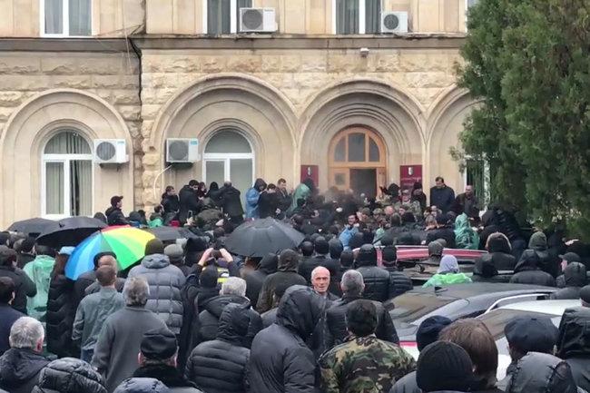 Абхазия, протест