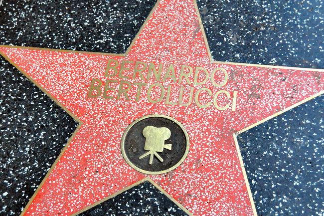 Звезда Бернардо Бертолуччи на Аллее славы в Голливуде