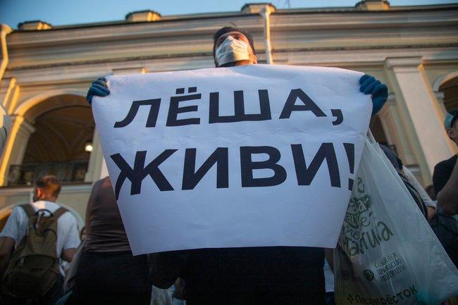 Алексей Навальный отравление пикет