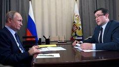 Губернатор Глеб Никитин доложил президенту Владимиру Путину о реализации нацпроектов в Нижегородской области