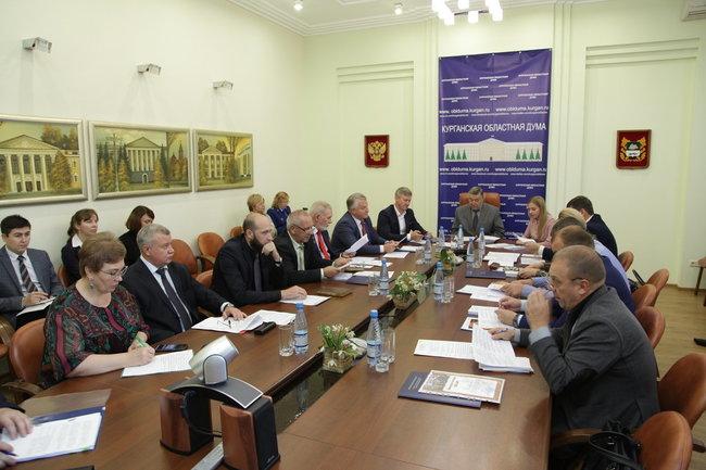 Заседание комитета по региональной политике и местному самоуправлению Курганской областной думы.