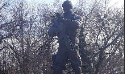 """Памятник """"вагнеровцам"""" в Луганске"""