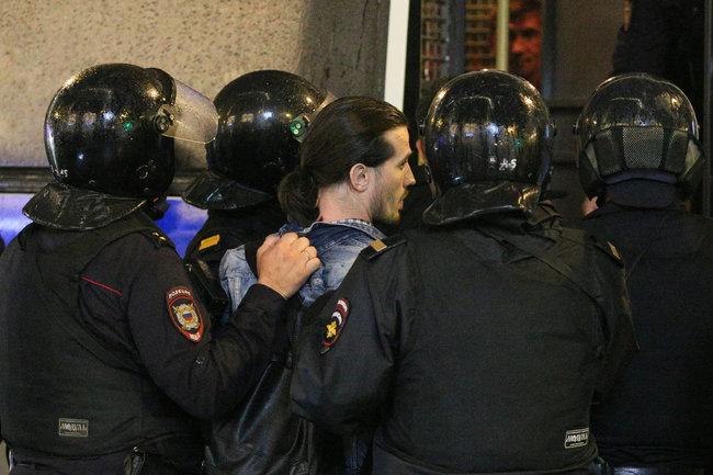 протест задержания полиция Россия