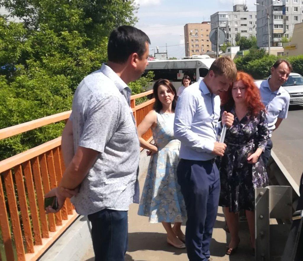 Члены комиссии на мосту через Серебрянку