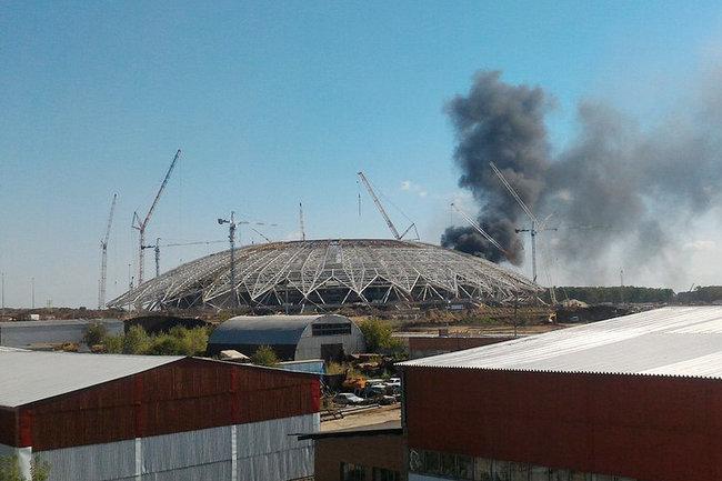 Самара Арена пожар