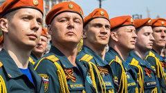 На Соборной площади Омска прошел парад Победы
