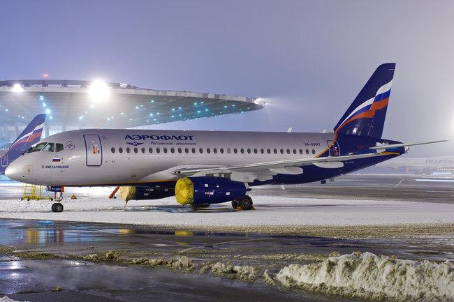 Самолет «Аэрофлота» Sukhoi Superjet 100