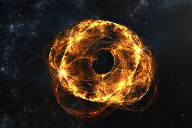 Астрономы открыли рекордно далекую черную дыру