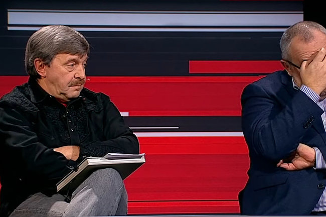 Григорий Амнуэль (слева)