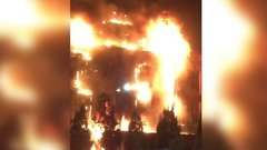 Площадь пожара в грозненском ТЦ выросла до 700 кв. м