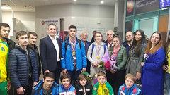 В Краснодаре торжественно встретили Чемпионов мира по самбо