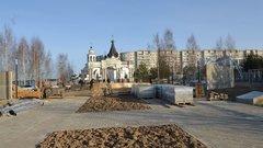 Основные работы в костромском парке Победы завершатся к 9 мая
