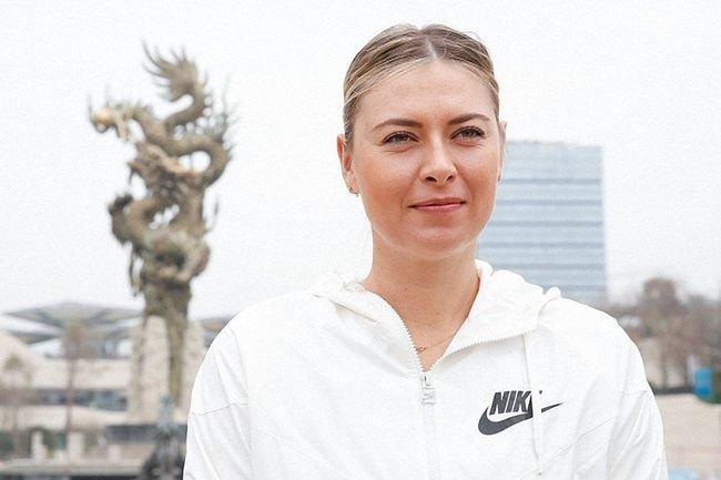 Мария Шарапова на турнире в Шэнчьжэне