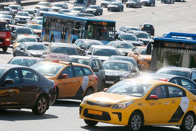 дорога пробка такси машины машина