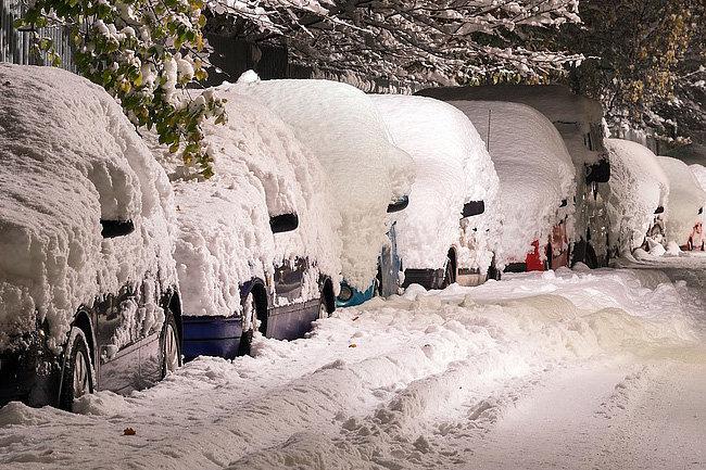 снег машины
