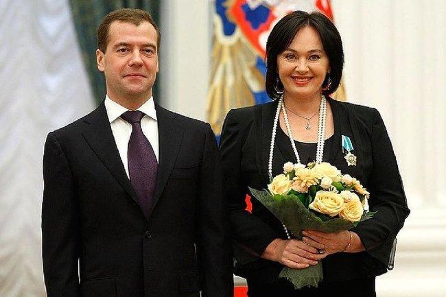 Дмитрий Медведев и Лариса Гузеева