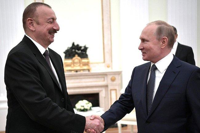 Владимир Путин и Ильхам Алиев