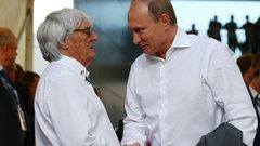 Путин поблагодарил президента Формулы-1 Экклстоуна