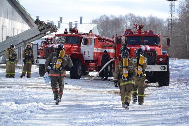 ВНовгородской области произошел сверепый пожар  наптицефабрике