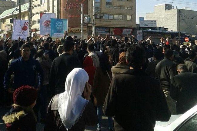 Протесты в Керманшахе