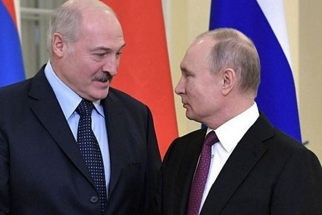 Президент Белоруссии Александр Лукашенко и президент РФ Владимир Путин