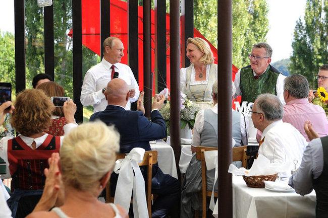 Карин Кнайсель и Владимир Путин