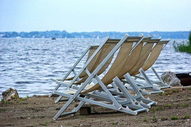 пляж лежак