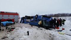 Автобус с детьми рухнул с трассы в Калужской области