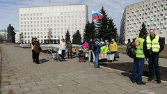Противников полигона вШиесе оштрафовали на1млн рублей, нопротест продолжается