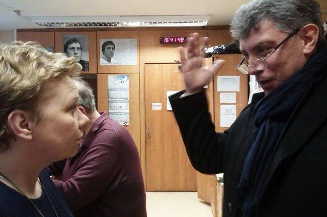 Ксения Ларина и Борис Немцов
