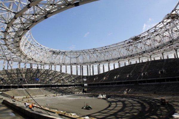Стадион, строящийся в Нижнем Новгороде к ЧМ-2018
