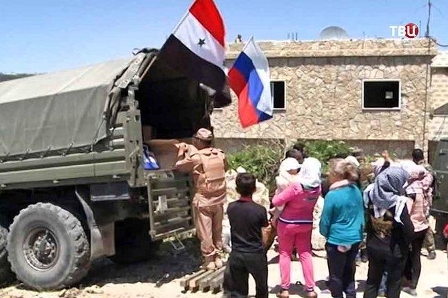 ВДамаске обстреляли пункт выдачи русской «гуманитарки», есть жертвы