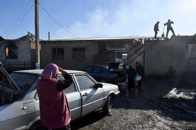 Казахстан драка полиция