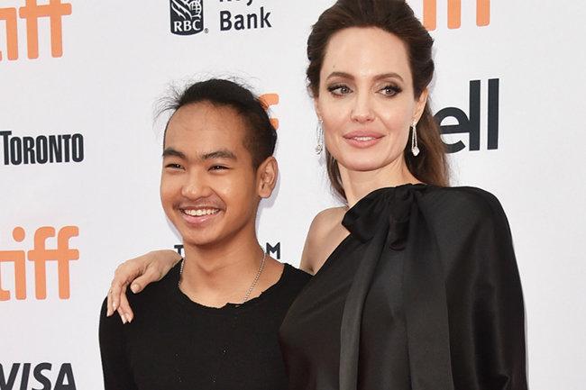 Мэддокс и Анжелина Джоли