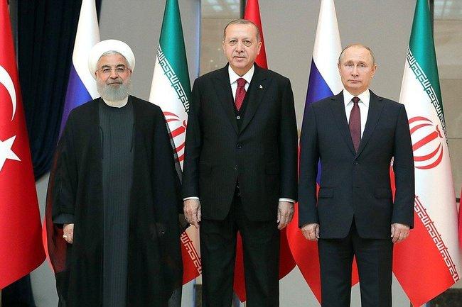 Лидеры Ирана, Турции и России
