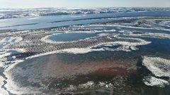 Из-за аномальных морозов в Перми застыло Камское водохранилище
