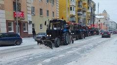 В Йошкар-Оле продолжают убирать снег