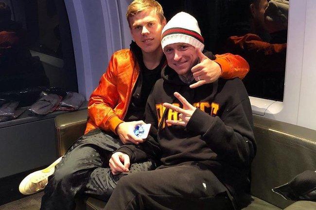 Павел Мамаев и Александр Кокорин накануне драки.