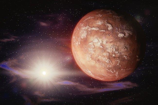 Новая версия происхождения воды на Марсе