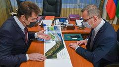 Владислав Шапша одобрил план благоустройства участка набережной реки Оки в Калуге
