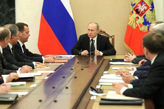 Члены Совбеза обсудили сПутиным вопросы внешней политики