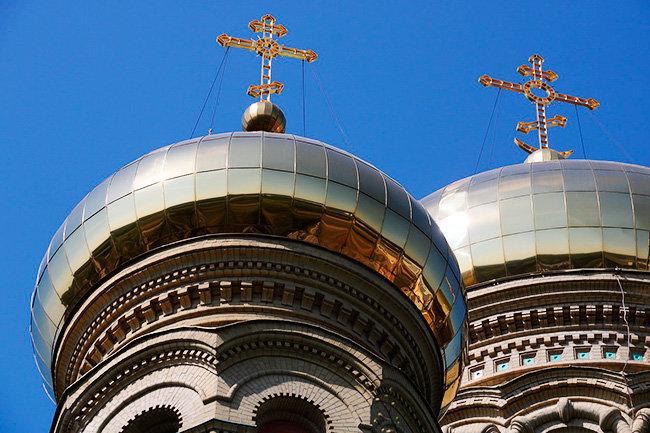 Церковь крест купол