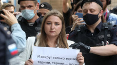 Десять журналистов арестовали за акцию в поддержку Ивана Сафронова