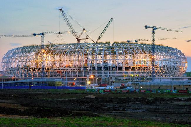 """Стадион """"Мордовия-Арена"""" в мае 2017 года"""