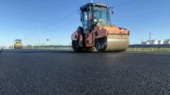 В Югре отремонтирована развязка на дороге «Сургут – Лянтор»