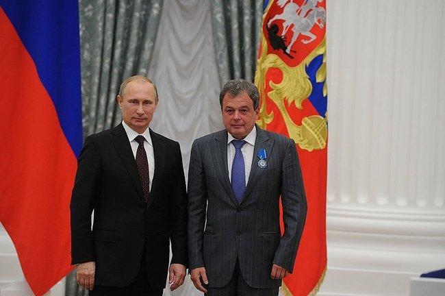 Михаил Балакин (справа) и Владимир Путин