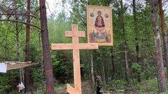 Жители Подмосковья решили бороться с мусором в лесах иконами и крестами